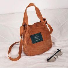 Dynamic Famous Brand Beach Bag High Quality Women Bag Vintage Corduroy Shoulder Bags New Corduroy Bucket Shoulder Handbags Luggage & Bags