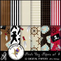 Pirate boy You ARRGG Going to Walk the Plank set by IrrationalArts, $4.95