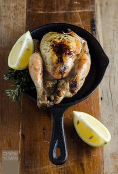 Feta and Herb Stuffed Spatchcock (Poussin) {Recipe} - Chew Town Food Blog