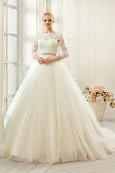 Find More Wedding Dresses Information about Sexy Backless Lace Wedding Dresses with Sleeves Ball Gown 2015 Long Tulle Wedding Bridal Gowns High Neck Vestido De Noiva BW82,High Quality dresses corset,China dress for dance competition Suppliers, Cheap dress degree from Bright Li Wedding Dress on Aliexpress.com