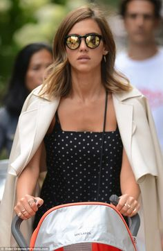 Chic: The Wright Girls actress, 34, looked the epitome of class on Friday, donning a polka...