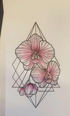 Afbeeldingsresultaat voor orchidee tattoo