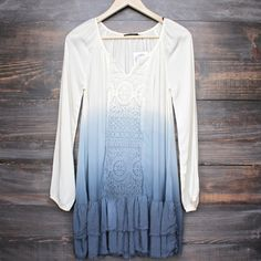 boho ombre dip dye dress - shophearts - 1
