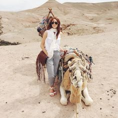 """Postcard+From+Morocco+-+""""A+highlight+from+our+trip:+camel+rides+in+the+Agafay+desert+on+the+outskirts+of+Marrakech."""""""