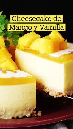 Sweet Desserts, Sweet Recipes, Cheesecake Recipes, Dessert Recipes, Comida Diy, Deli Food, Tasty, Yummy Food, Mango