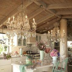 Shabby chic+Pastel kitchen
