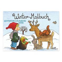 """Dass der Winter alles andere als grau ist, kann Ihr Kind in dem Mini-Malbuch """"Winter"""" von Outi Kaden beweisen. https://www.graetz-verlag.de/mini-malbuch-winter"""