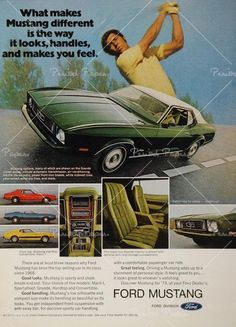 Ford Mustang Vintage Advertisement