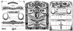 This took a bit of doing to find the site, but it is worth it.Free Family Record Marriage Certificate and Prayer Designs ~ different styles ~ vintage family, records, prayers, marriage certificates, forms, & trees for heritage scrapbooks.