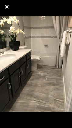 48 Fantastic Small Bathroom Ideas For Apartment. nice 48 Fantastic Small Bathroom Ideas For Apartment. Try to remember, some of the most stylish men and women around, are wearing some edition of the very same […] Hall Bathroom, Upstairs Bathrooms, Bathroom Renos, Basement Bathroom, Bathroom Flooring, Bathroom Renovations, Master Bathroom, Bathroom Ideas, Bathroom Organization