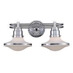 Retro Saucer 2 Light Bath Bathroom Wall Lights Fixtures