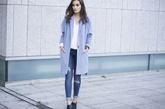 Anouska Proetta Brandon loving #riverisland - the coat, blouse and jeans! Looking gorgeous Anouska #bloggerstyle