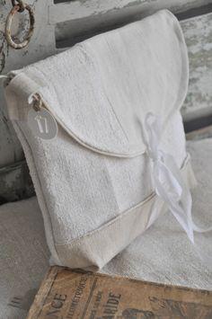 pochette lin//chanvre ☆ Brocante, déco vintage industrielle brocante campagne