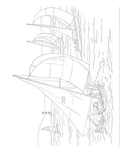 Nautical Scenes To Paint or  Color Coloring Book, Dover Publications