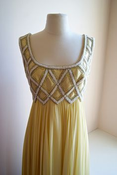 Xtabay Vintage Clothing Boutique - Portland, Oregon, 1960s silk chiffon evening gown.