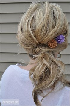 The Knot Ponytail by thesmallthingsblog #Hair #Ponytail #thesmallthingsblog