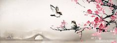 cute-sparrows-on-cherry-blossom-chinese-art-cool-facebook-timeline-covers.jpg (851×315)