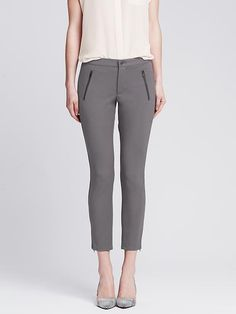 Sloan-Fit Cropped Zip Legging