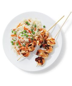 Tandoori Shrimp With Rice and Peas | Casting your net for new dinner recipes? Reel in the family with these fast, easy shrimp dishes.