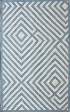 Kilim Diamond Light Blue Rug | Contemporary Rugs