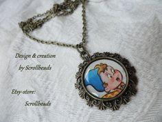 Disegno di Noddy libro-frammento autentico amuleto di Scrollbeads