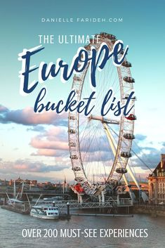 The ultimate Europe bucket list. A must read before your trip to Europe. Over 200 items! : The ultimate Europe bucket list. A must read before your trip to Europe. Over 200 items! Europe Destinations, Europe Travel Tips, Travel List, European Travel, Travel Guides, Places To Travel, Places To Visit, Europe Europe, Trip To Europe