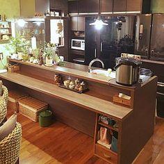 対面キッチン一体式カウンターの人気の写真(RoomNo.1280811)