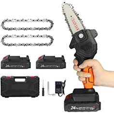 Shopping Cart Cordless Electric Chainsaw, Hand Chain Saw, Mini Chainsaw, Wood Cutter, Electric Saw, Leaf Blower, Amazon, Outdoor Power Equipment, Cart