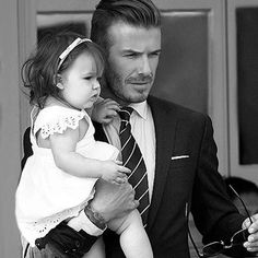 David Beckham and his daughter Harper Happy Father's Day!