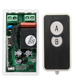 AC220V 10A 1CH Wireless RF Remote Control Switch Ultra - thin acrylic Transmitter+ 1*Receiver for Appliances Gate Garage Door