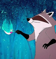 Flit and Meeko (Pocahontas theme) Disney Animated Films, Disney Films, Disney And Dreamworks, Disney Pixar, Arte Disney, Disney Magic, Disney Art, Disney And More, Disney Love