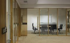 Queensland Competition Authority Office Fitout   Amicus Interiors - Mamparas madera