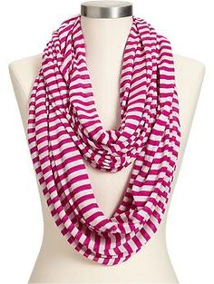 Women's Striped Infinity Scarves   Old Navy