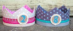 Sewn crowns for children's birthday - sewing pattern and sewing instructions . Fairy Mermaid, Girl Birthday, Birthday Parties, Sew Mama Sew, Little Monkeys, Baby Kind, My Princess, Sewing For Kids, First Birthdays