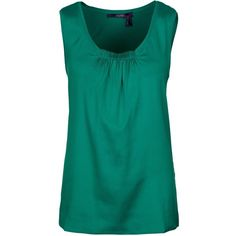 Laurel Top ($155) ❤ liked on Polyvore featuring tops, shirts, green, blue shirt, blue top, green blue shirt, green collared shirt and round neck shirt