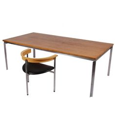 PK55 Table/Desk by Poul Kjaerholm | From a unique collection of antique and modern desks and writing tables at http://www.1stdibs.com/furniture/tables/desks-writing-tables/