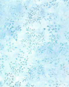 Fragile Fern Batik - Sky Blue