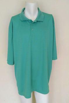 Beverly Hills Polo Sport Golf Athletic Performance Shirt Big Men 3XL Aqua  #BeverlyHillsPoloClub #PoloRugby