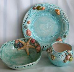 Summerland Cottage Studio: Seashore ceramic dish designs