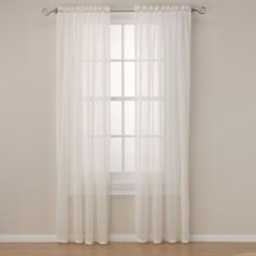 Maracana Rod Pocket Sheer Window Curtain Panel - BedBathandBeyond.com