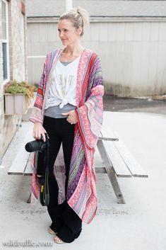 Long Kimono, Kimono Top, Kimono Pattern, Ruffles, Style Inspiration, Sleeves, Tops, Women, Fashion