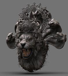 Narasimha by kallesh thippeswamy Ganesha Tattoo Lotus, Shiva Tattoo, Lotus Tattoo, Tattoo Ink, Shiva Art, Hindu Art, Lord Hanuman Wallpapers, Giger Art, Apocalypse Art