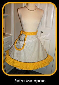 Retro Me handmade half apron by mimisneedle on Etsy