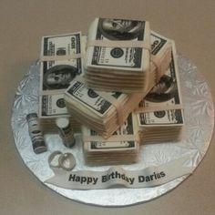 Money stack cake