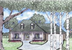 Handicapped Accessible - 8423JH | 1st Floor Master Suite, Country, Handicapped Accessible, Jack & Jill Bath, PDF, Southern, Split Bedrooms | Architectural Designs