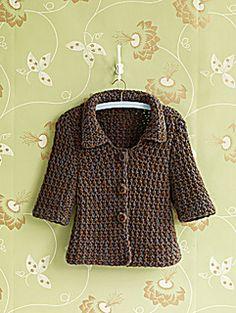 Modern Crocheted Jacket -- Free Pattern