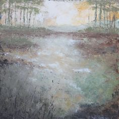 Art.  Oil and Cold Wax painting.  ClayRoadStudio.com