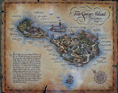 Map of Tom Sawyer Island and pictures and details of what's on the island.
