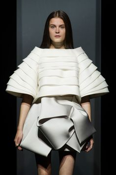 Sculptural fashion construction with artful folds & voluminous silhouette // Dice Hayek Couture