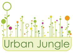 Logo for organic garden center that features urban window boxes. Urban Jungle Phila Logo by Anne Talbot DeCock